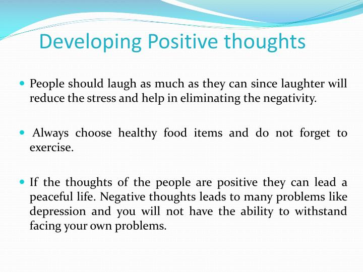 Developing Positive thoughts