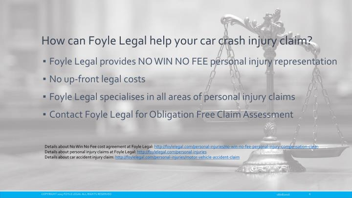 How can Foyle Legal help your car crash injury claim?
