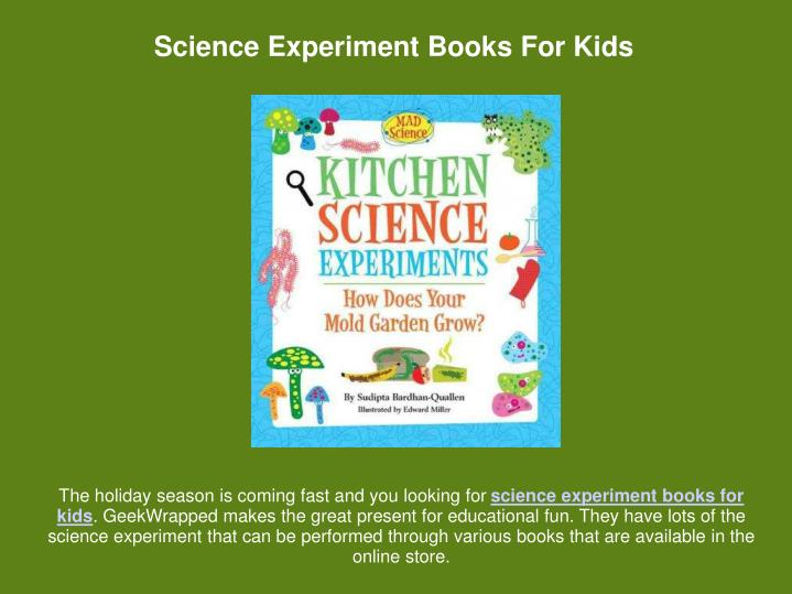 Science Experiment Books For Kids