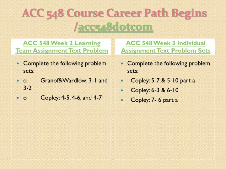 Acc 548 course career path begins acc548 dotcom2