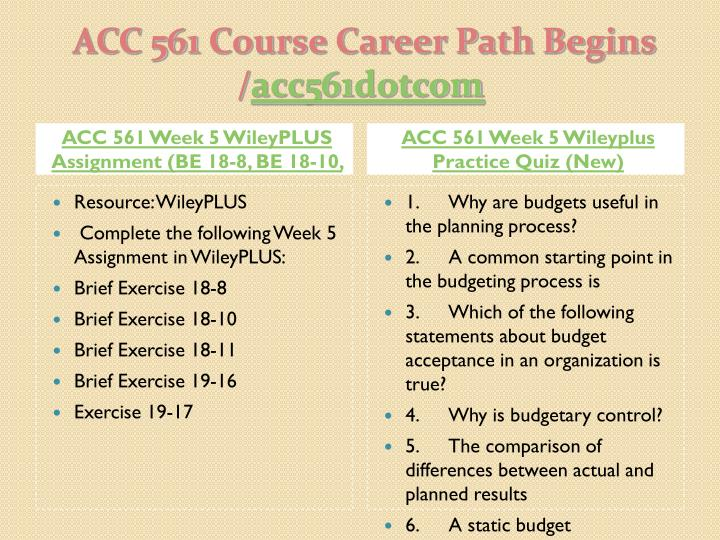 ACC 561 Week 5 WileyPLUS Assignment (BE 18-8, BE 18-10,