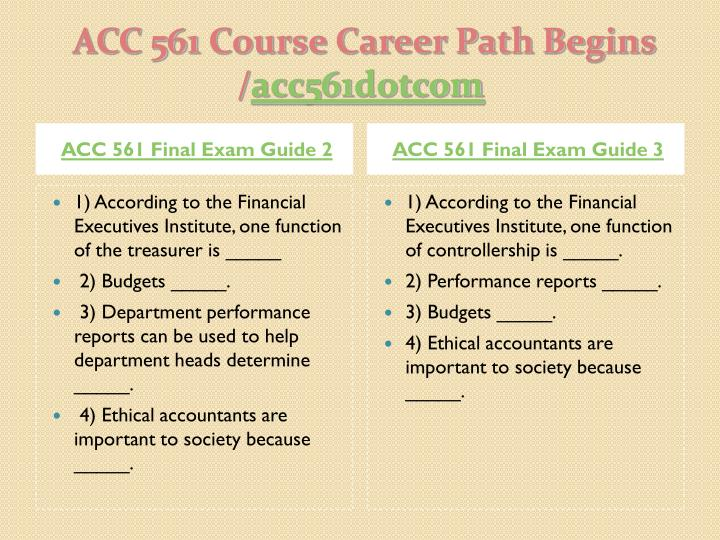 ACC 561 Final Exam Guide 2