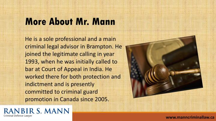 More About Mr. Mann