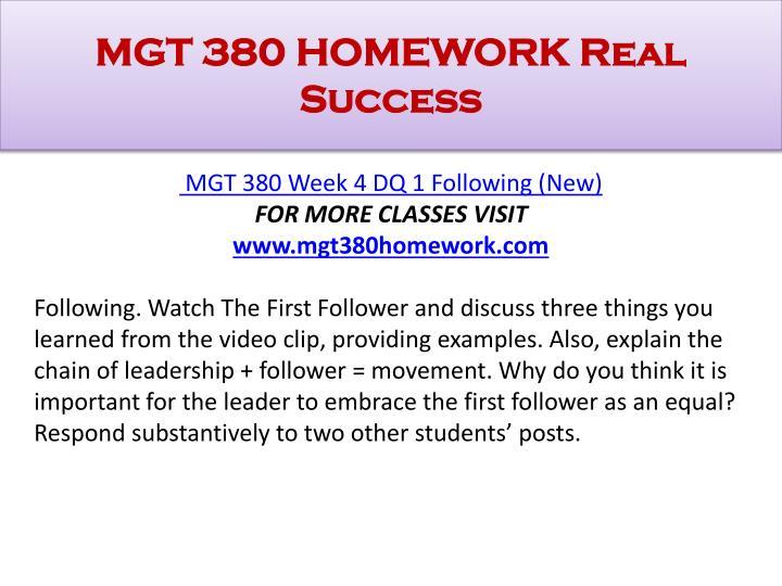 Watch homework strategy