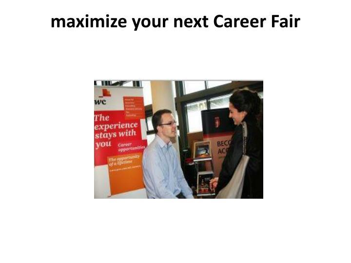 maximize your next Career Fair