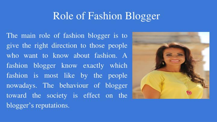 Role of Fashion Blogger