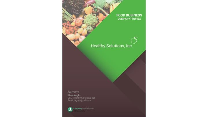 Ppt - Food Business Company Profile Sample Powerpoint Presentation
