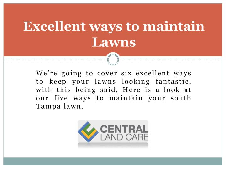 Excellent ways to maintain lawns