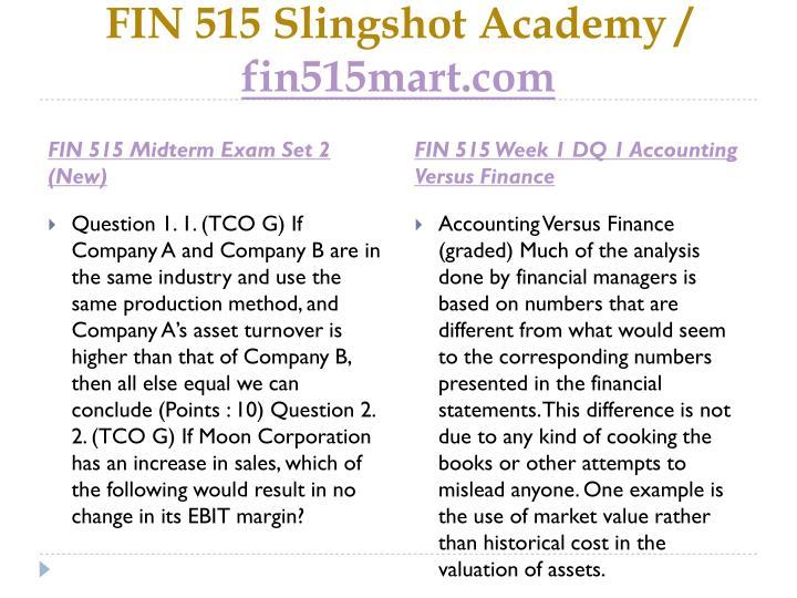 fin 515 midterm exam solution
