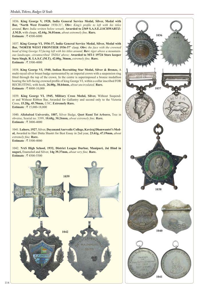 Medals, Tokens, Badges & Seals