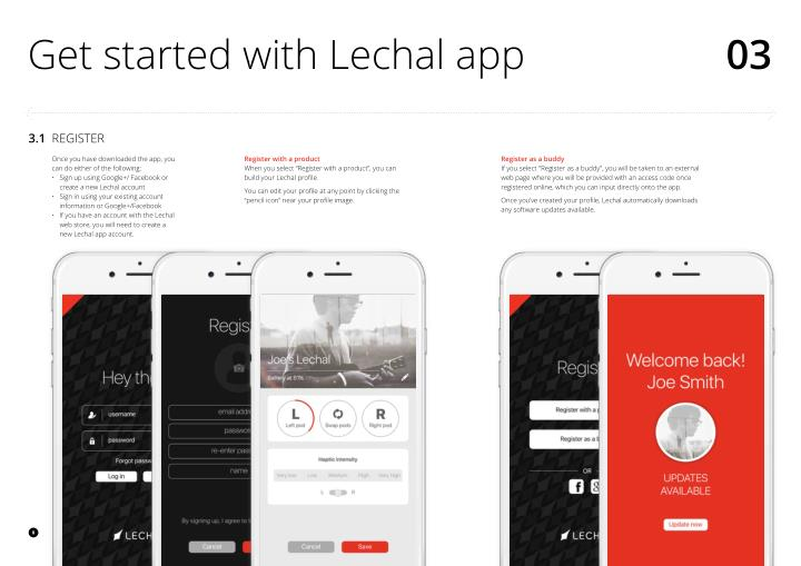 Get started with Lechal app