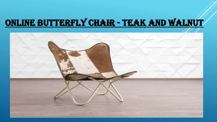 Online butterfly chair teak and walnut