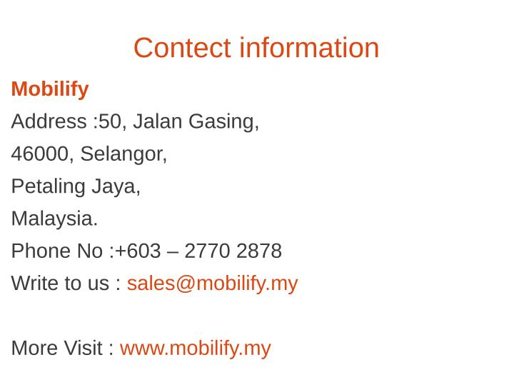 Contect information