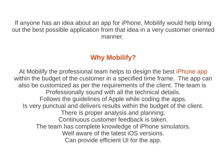 If anyone has an idea about an app for iPhone, Mobilify would help bring