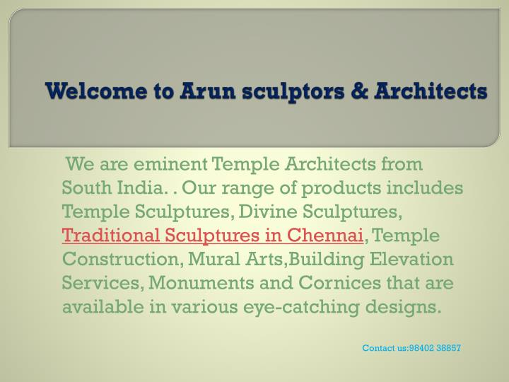 Welcome to arun sculptors architects