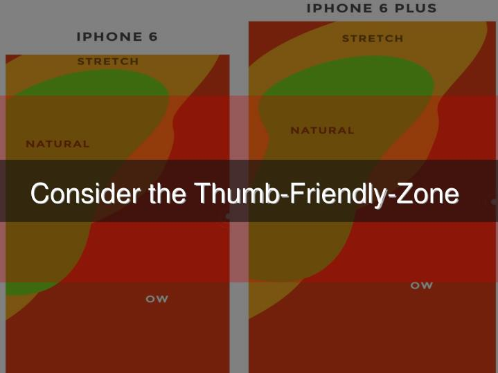 Consider the Thumb-Friendly-Zone