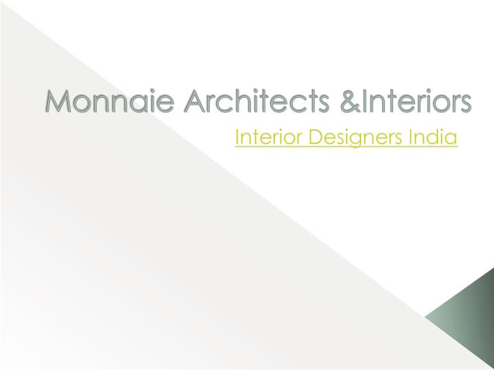 monnaie architects interiors