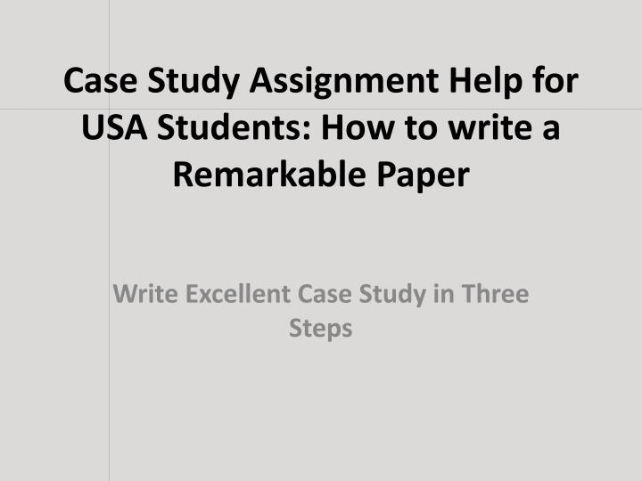 Examples & Samples of Case Study