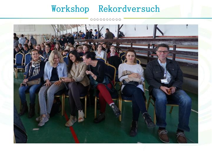 Workshop  Rekordversuch