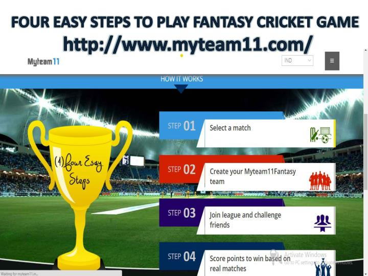 FOUR EASY STEPS TO PLAY FANTASY CRICKET GAME