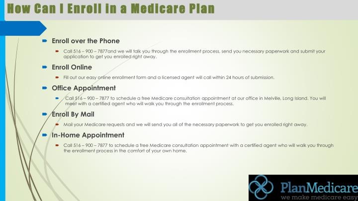How can i enroll in a medicare plan
