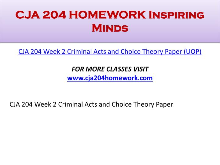 cja 204 paper For more classes visit wwwcja204homeworkcom this tutorial contains 2 different papers cja 204 week 1 criminal justice system paper resources: p 18 ofreference and citation examples located in the center for writing excellence on the student website and cji interactive.