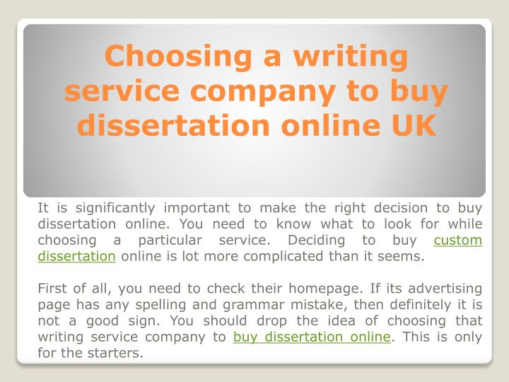 Professional writing service to buy dissertations online