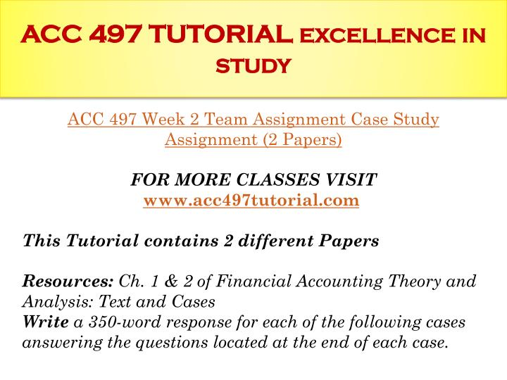 Advanced Topics In Accounting Research