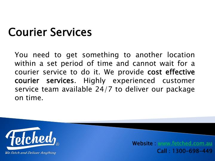 You need to get something to another location within a set period of time and cannot wait for a courier service to do it. We provide