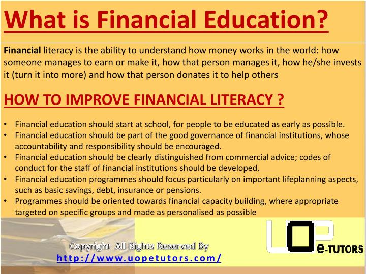 What is Financial Education?