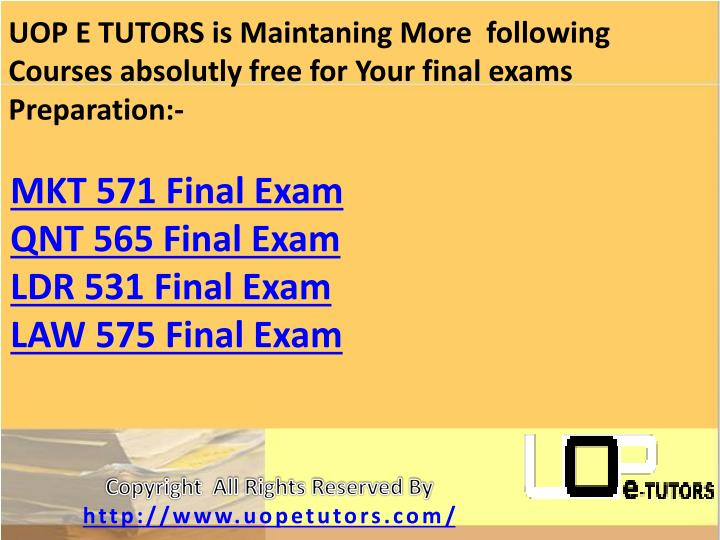 UOP E TUTORS is Maintaning More  following Courses absolutly free for Your final exams Preparation:-