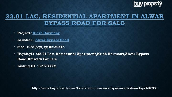 32.01 Lac, Residential Apartment in