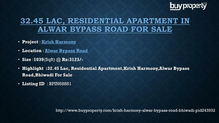 32.45 Lac, Residential Apartment in