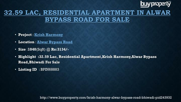 32.59 Lac, Residential Apartment in