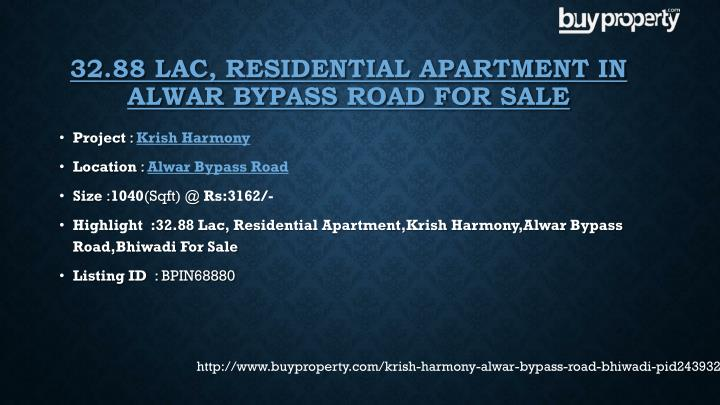32.88 Lac, Residential Apartment in
