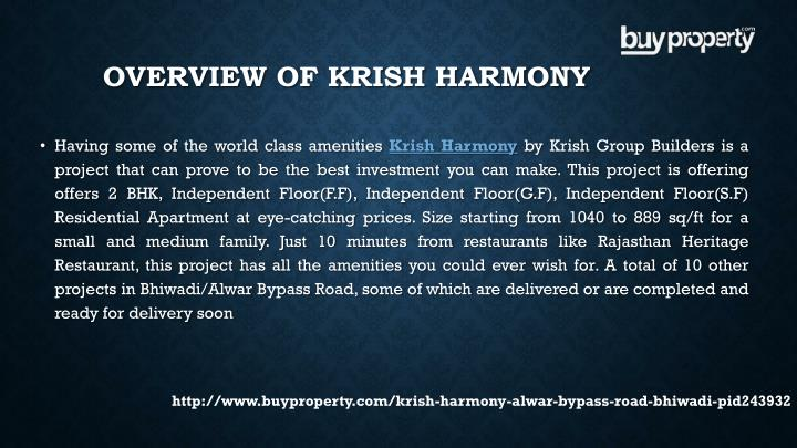 Overview of Krish Harmony