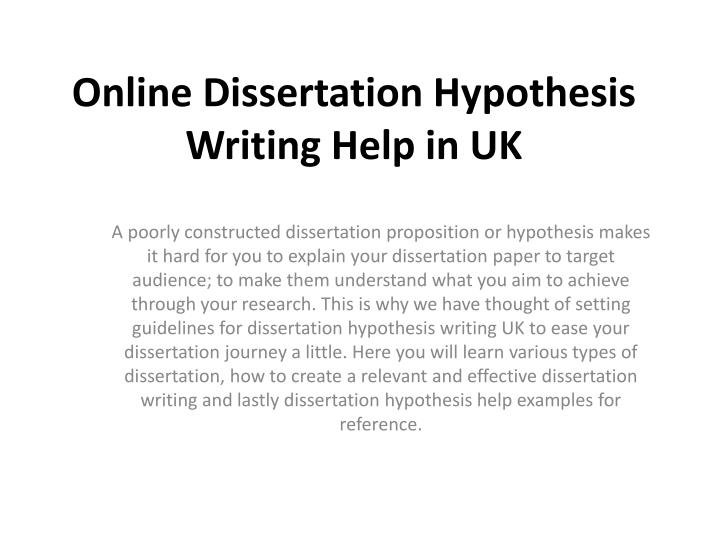 Dissertation hypothesis question