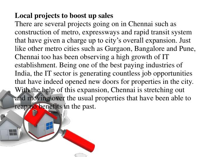 Local projects to boost up sales