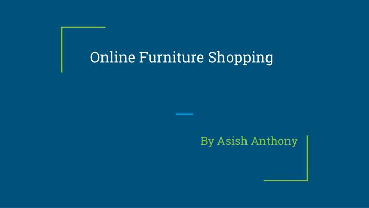 PPT line Furniture Shopping PowerPoint Presentation
