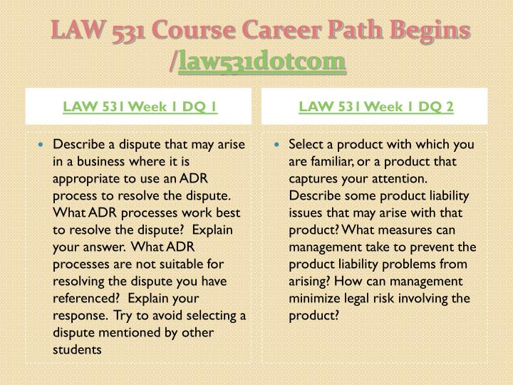 LAW-531 Business Law
