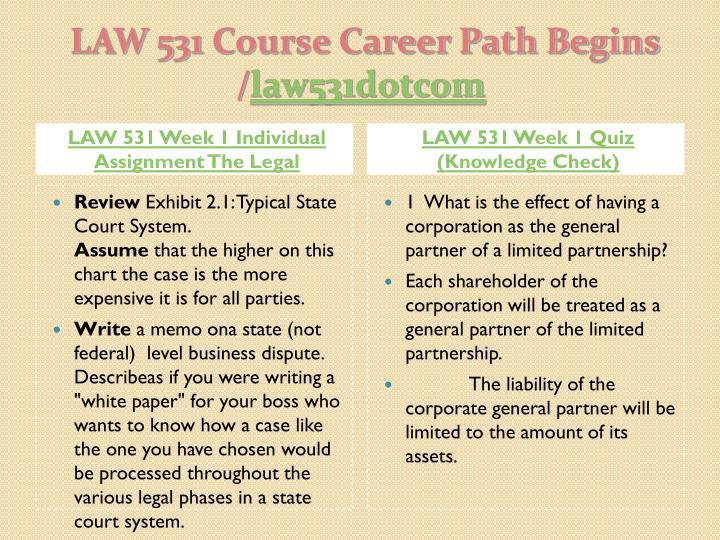 Law 531 Week 4 Legal Risk