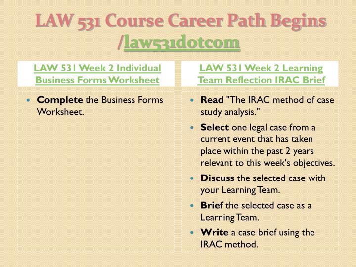 LAW 531 UOP Course Tutorial/Tutorialrank
