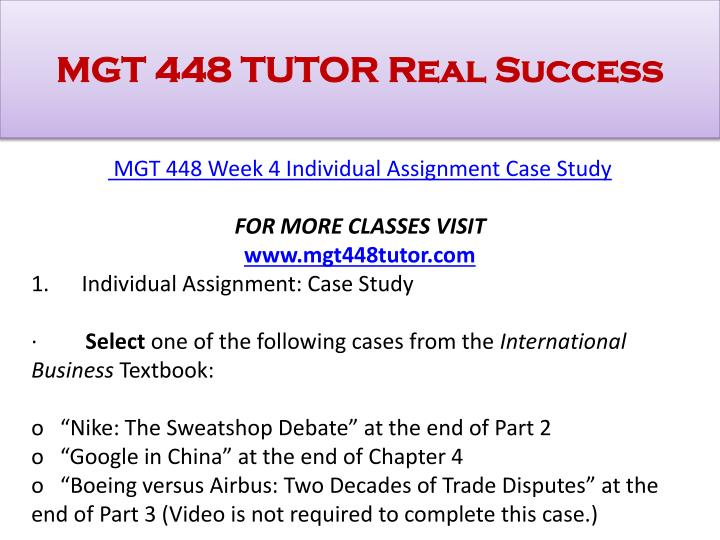 mgt 448 final global business plan team paper and presentation //wwwgrades4ucom/mgt-448-c20php mgt 448 entire course calculate final total costs mgt 448 week 5 learning team assignment global business plan paper and.