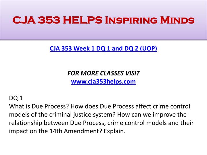"compare and contrast the due process and crime control models Compare and contrast the due process model and the crime  the two models are called the ""crime control model"" and the  ntroduction to the justice system 31."