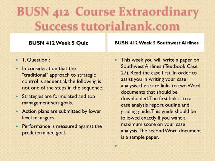 BUSN 412 Week 5 Quiz