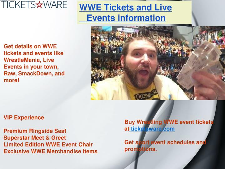 WWE Tickets and Live