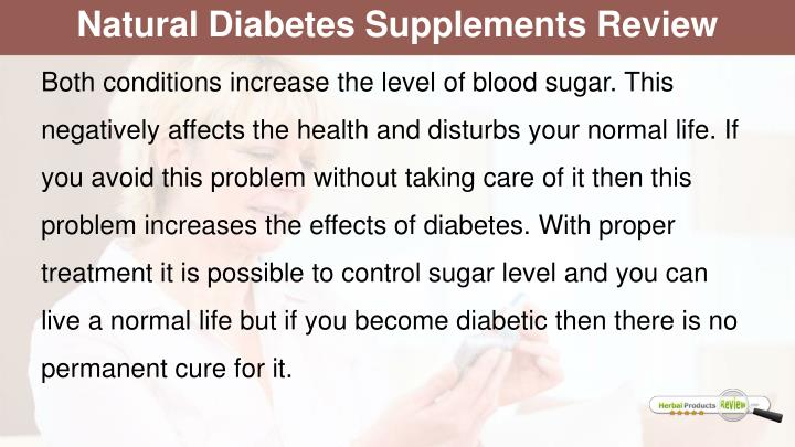 Natural Diabetes Supplements Review