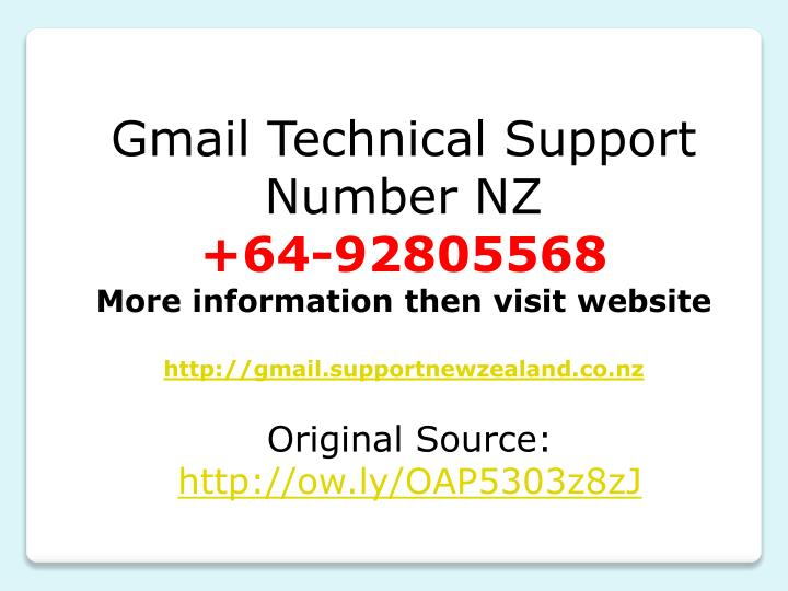Gmail Technical Support Number NZ