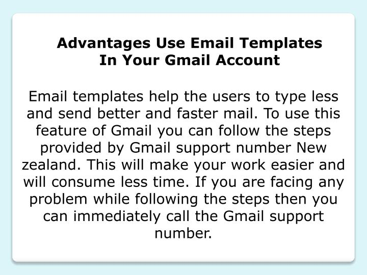 Advantages Use Email Templates In Your Gmail Account