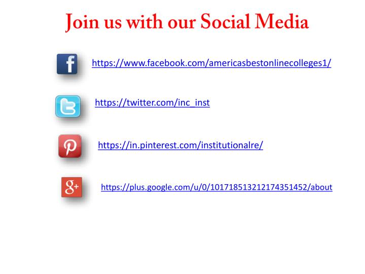 Join us with our Social Media